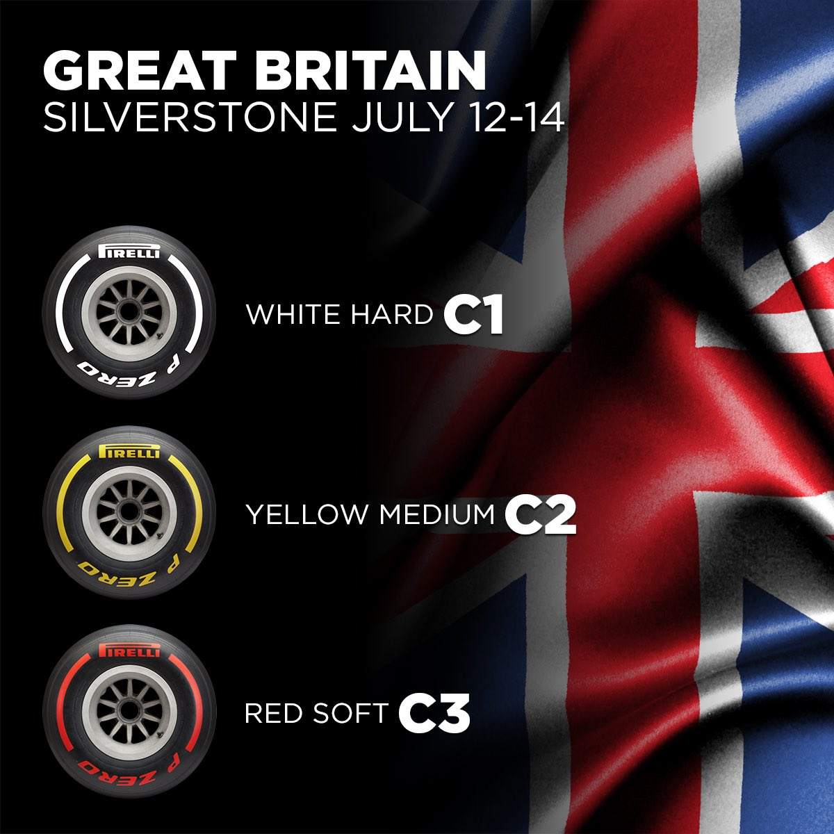Pirelli Confirms Tyre Compounds For 2019 British GP