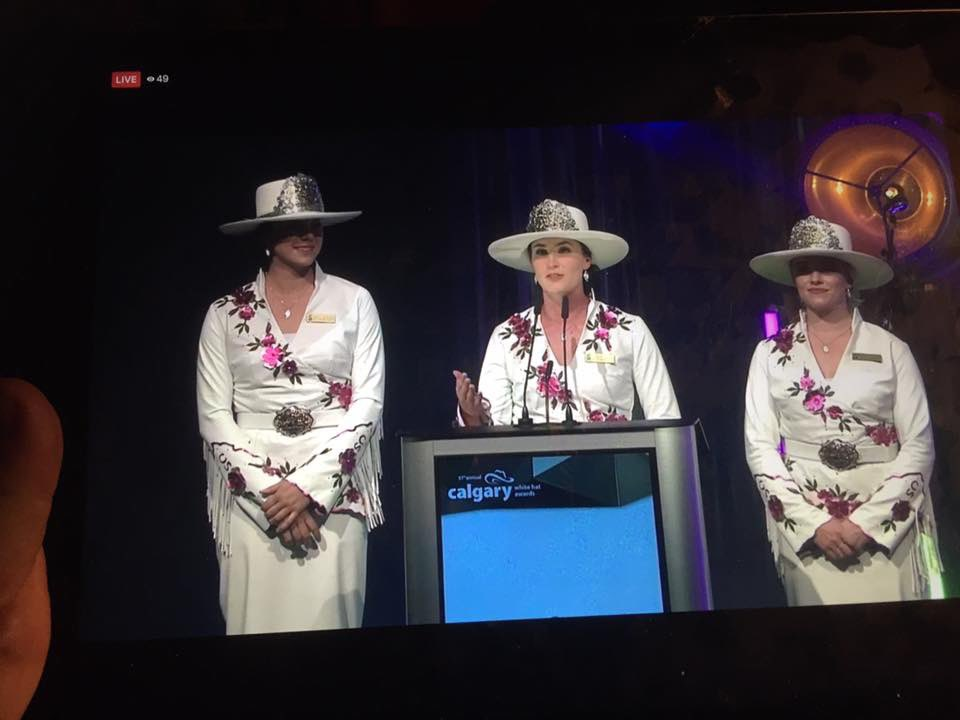 Thank you #WhiteHatYYC for having us present one of the prestigious White Hats last night!  Thank you to all of the amazing people in the hospitality industry that help make this city the ultimate host city! @TourismCalgary  #yyc #communityspirit #capturecalgary @calgarystampede