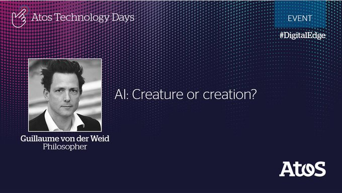AI: creature or creation? In a few minutes, the philosopher Guillaume Von Der Weid...