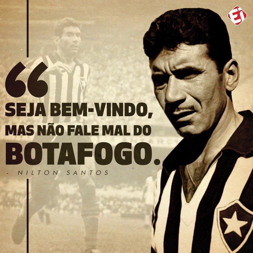 Hoje, um GIGANTE da história do futebol e, principalmente, do @Botafogo completaria 94 anos! Salve, Nilton Santos! ⭐️