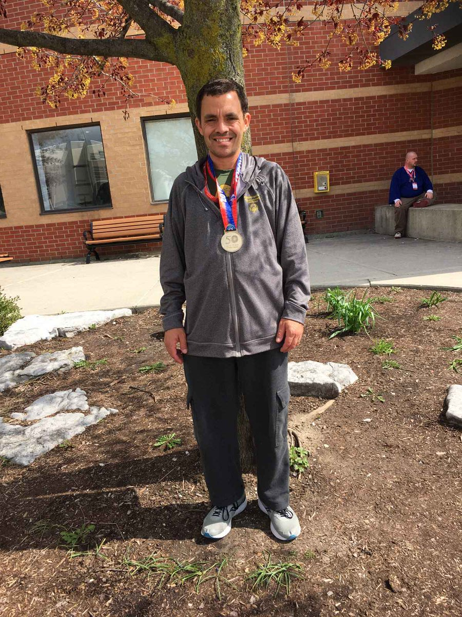 Congratulations to my brother Andrew from @TownOfAjax on winning the Gold Medal with his floor hockey team at the @youthgames2019