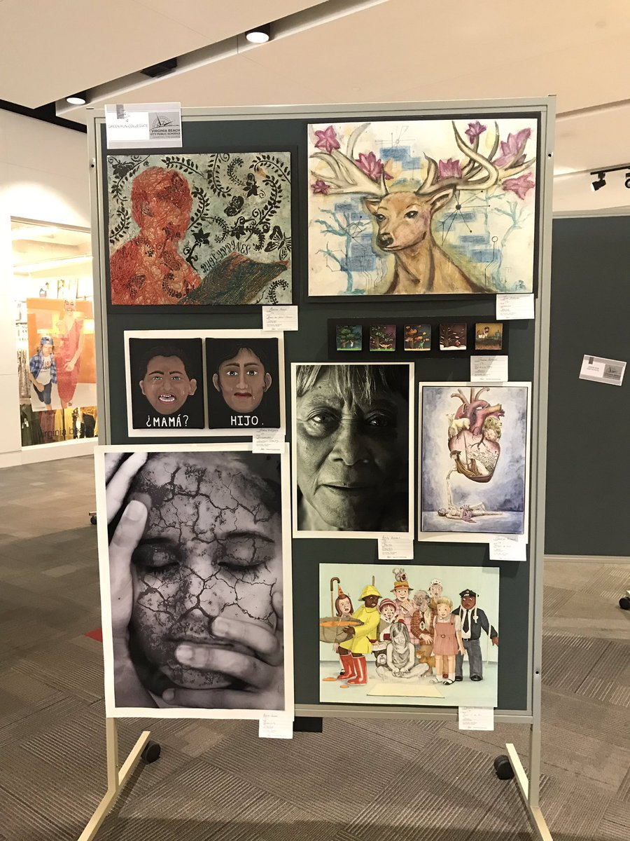 GRC Artists in the house! VB Citywide art show at Pembroke Mall. GRC Photo, Design & Art looking awesome 😎. @grcollegiate @grc_art @ms_lecroy