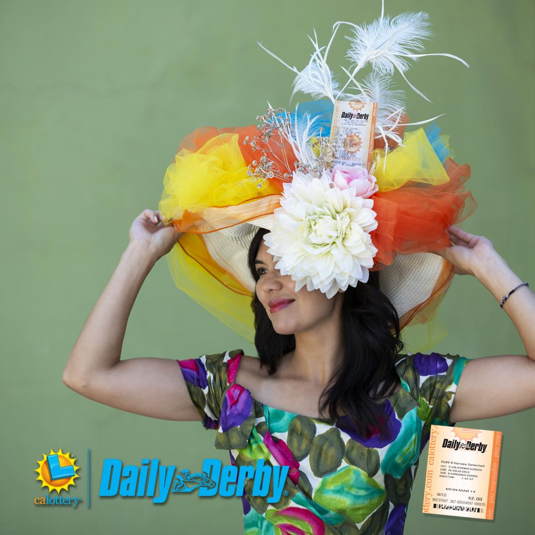 Wear your lucky hat every day…Play Daily Derby only at the California Lottery! #dailyderby #calottery #derby