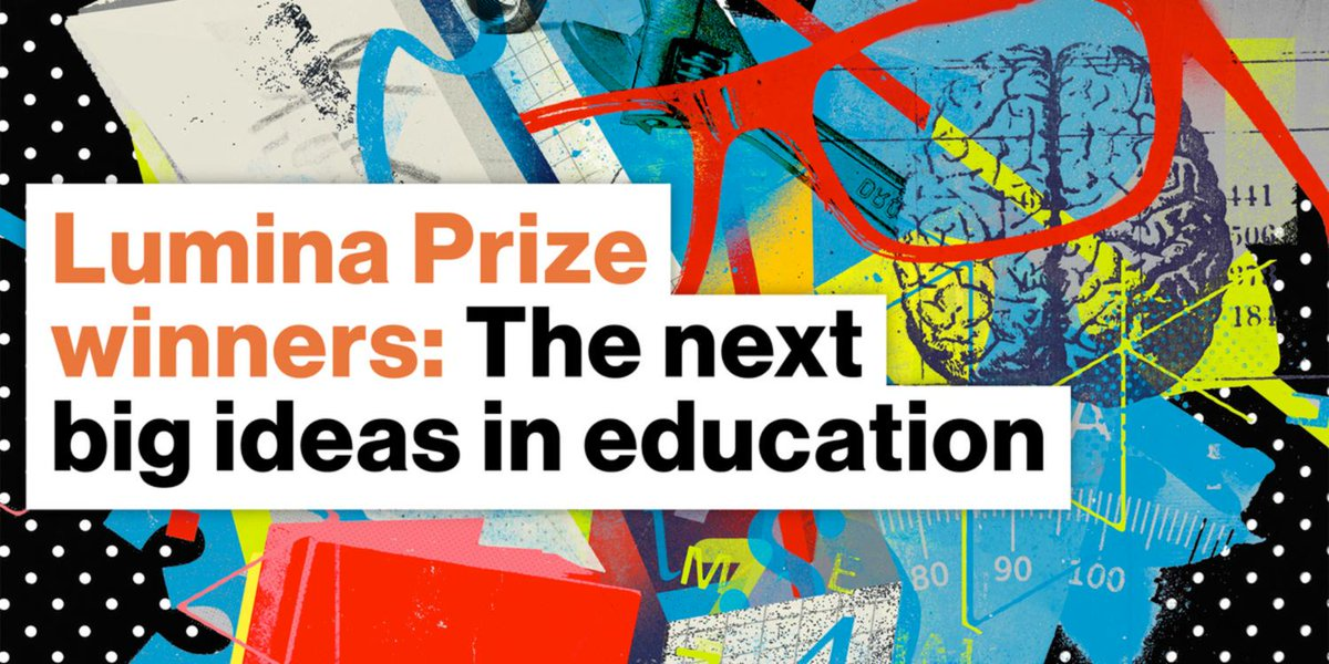 We are pleased to announce two winners for the Lumina Prize post-high school education innovation competition. Congratulations to @GreaterCommons and @PeerForward! And a special thanks to our partner @LuminaFound and to everyone who entered!  http://bit.ly/2EdxLZQ