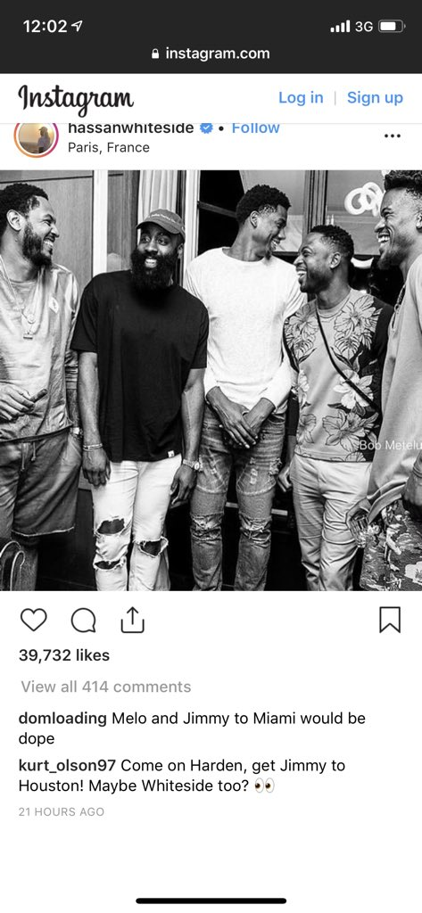Harden hanging out with Jimmy Butler in France  <br>http://pic.twitter.com/7o5par8Ft3
