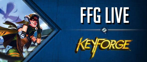 One hour until #FFGLive! Tune in for a KeyForge Age of Ascension reversal match!  View on Twitch https://www.twitch.tv/ffglive or YouTube https://www.youtube.com/user/FantasyFlightStudio…
