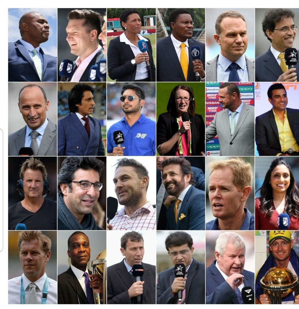 Former Captain Kumar Sangakkara only Sri Lankan commentator at the ICC Men's Cricket World Cup 2019 official broadcast. #CWC2019