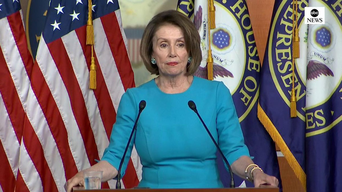 """Speaker Nancy Pelosi tells @ABC News merit-based immigration is a """"condescending"""" term.  """"Are they saying most of the people who have ever come to the United Sates...are without merit because they don't have an engineering degree?"""" http://abcn.ws/2Hr9Jet"""