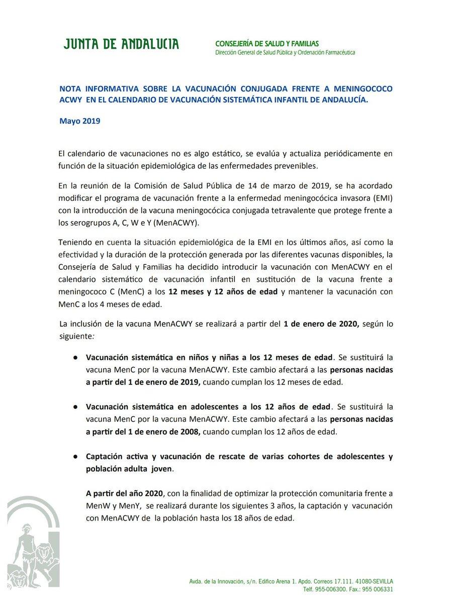 Calendario Vacunas 2020 Andalucia.Marian Villares Marianvillares Twitter