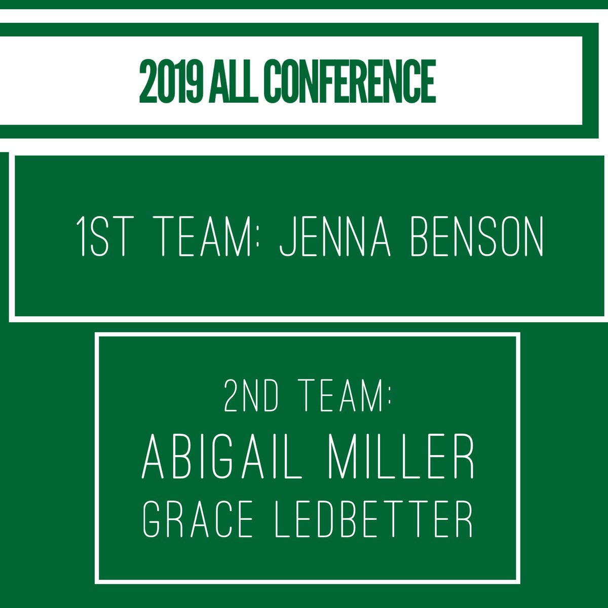 Congratulations to our 2019 1st and 2nd team All Conference selections! #wearemehlville