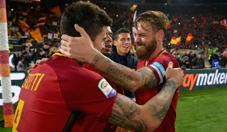 """Diego Perotti: """"I've sat next to De Rossi in the dressing room at the Olimpico for 4 years. I saw him take pain killers as if they were candy to play for Roma. We want to do good for him, for us and for the fans. It deserves a better ending then what we've done so far"""""""