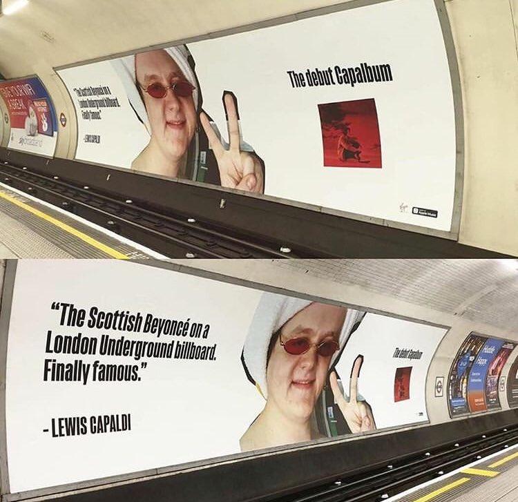 Image result for lewis capaldi poster train station