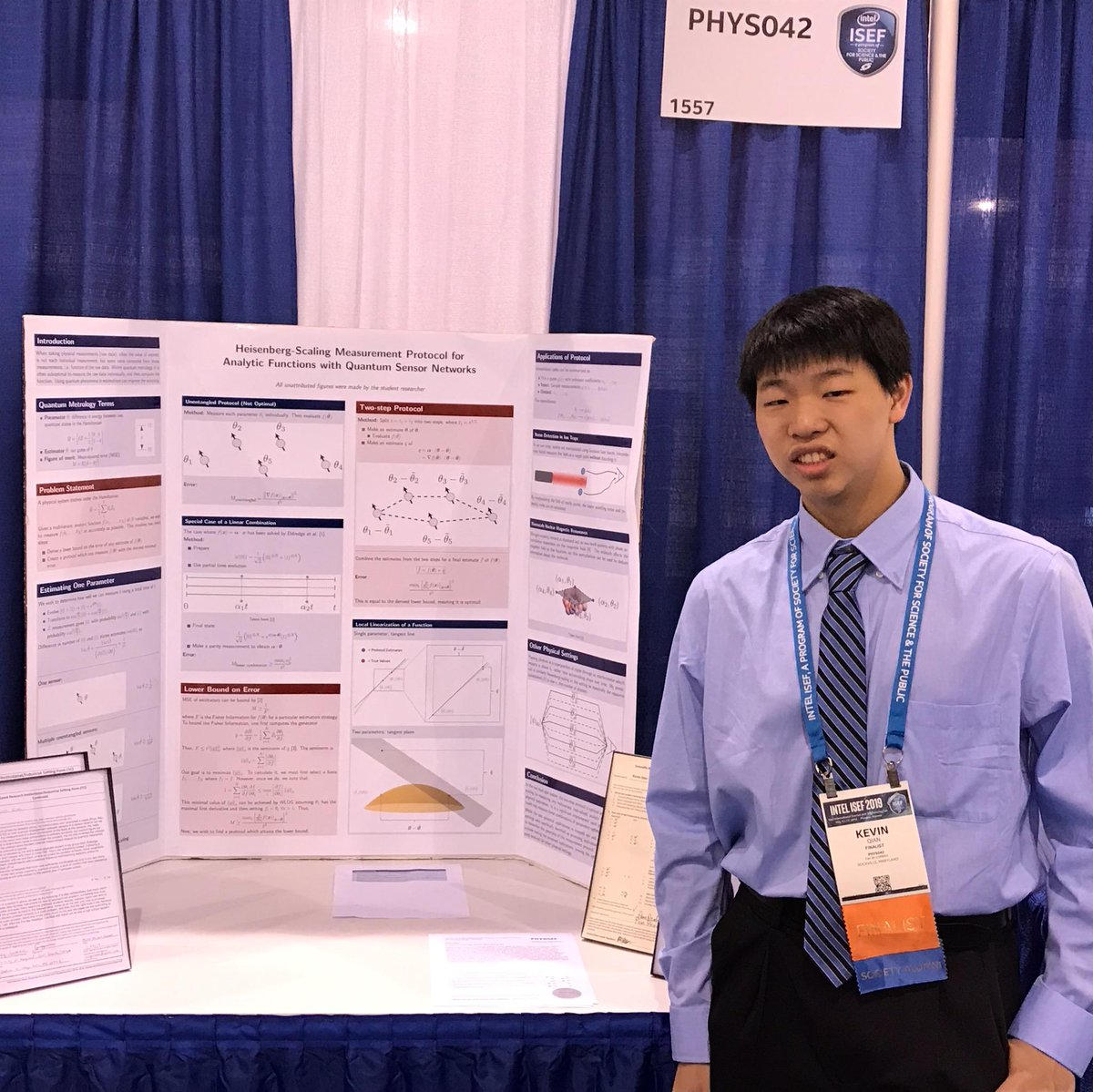 Kevin Qian at ISEF