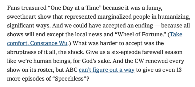 Agreed @nytimes  #SaveODAAT  https://www. nytimes.com/2019/05/14/art s/television/game-of-thrones-big-bang-theory.html &nbsp; … <br>http://pic.twitter.com/O2dY39fcpW