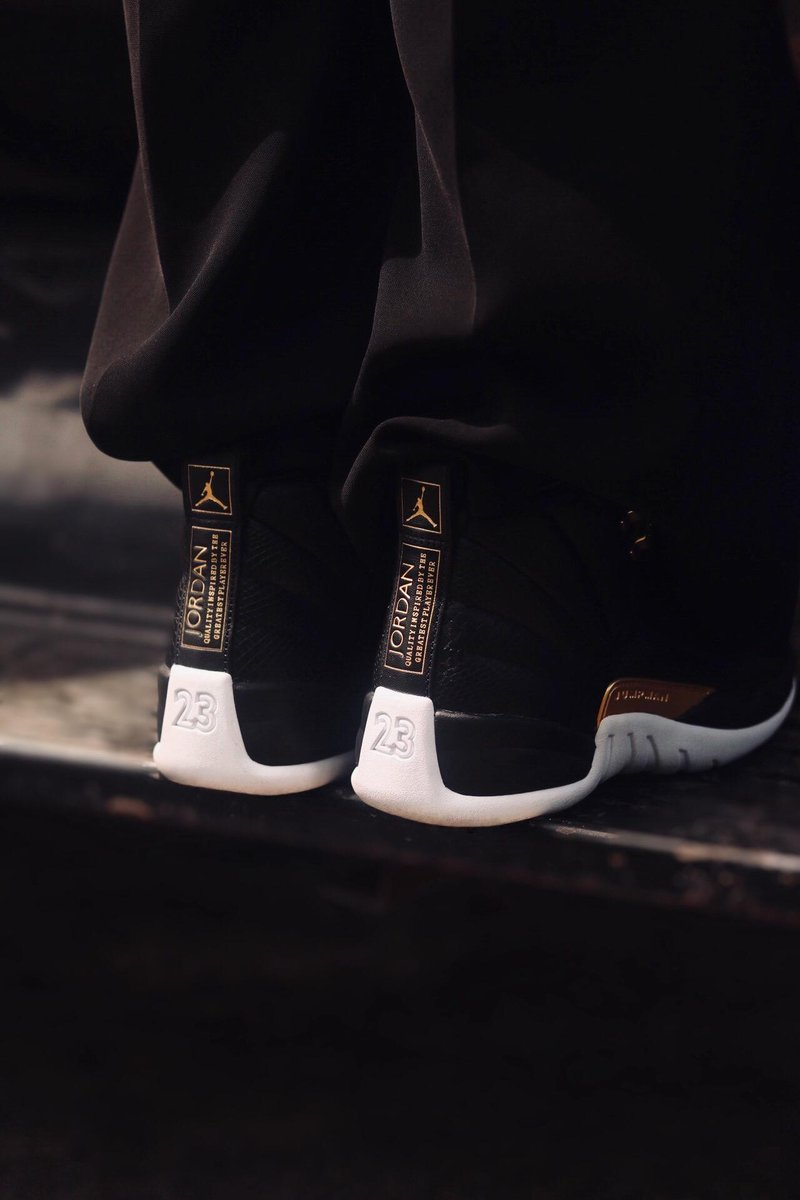 3c83db0abfbb65 The Women s Retro 12  Black Metallic Gold  launches in select stores    online tomorrow!  Hibbett Learn More