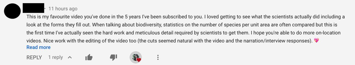 Its been a pretty shitty week, but sometimes comments come in that make me feel really good and I just thought Id share this one because Im pretty sure my subscribers are the best subscribers.