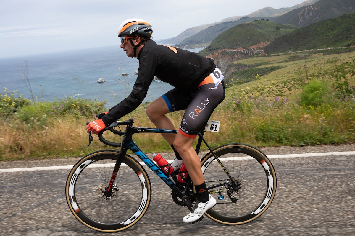 .@BrandonMcNult has made the breakaway of 12 riders on stage five of the #AmgenTOC. They have 2:25 on the field with 116 km to go. Category 1 ascent of San Marcos Pass looming. 🧐 #InspiredBikes #ReasonToRide