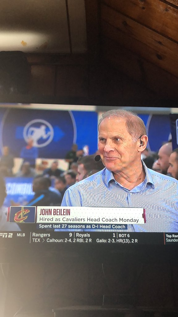 """""""We're glad to talk to new Cavs head coach John Beilein""""... *starts to cry again*"""