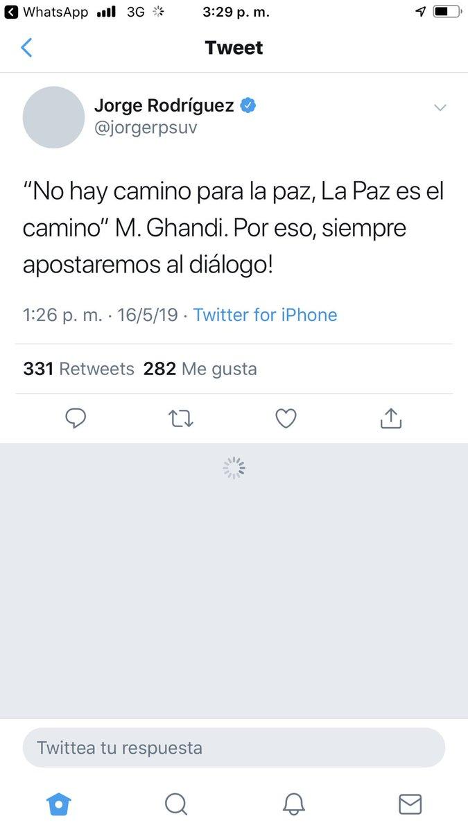 Gobierno venezolano confirma su convicción por el diálogo. Estos mensajes se dan luego de varias horas de rumores sobre posibles conversaciones con la oposición. El diputado Guaidó también se pronunció.