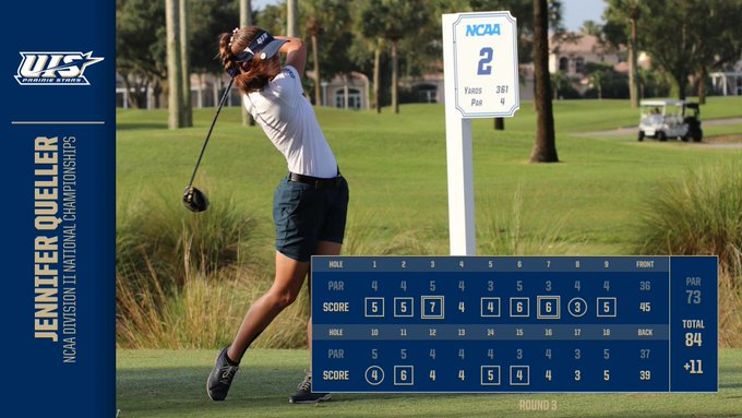 RT @UISAthletics: Jennifer Queller of women's @UISGolf finished up play at the NCAA Division II National Championships today. She is the fi…