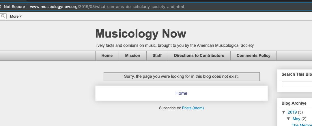 Musicology Now on Twitter: