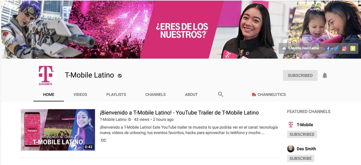 Go #SUBSCRIBE right now to @TMobileLatino on YOUTUBE before Sunday at 11:59 PM & RT THIS TWEET!!! (I'ma surprise one of you with a new📱!!!) ❤️ Des