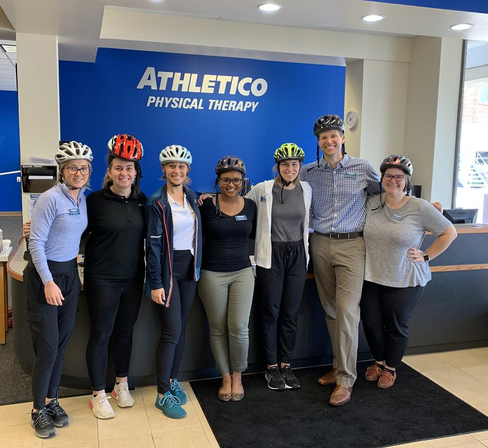 "Athletico #Olivette is ""gearing up"" for National Bike to Work Day which takes place tomorrow, May 17th! #BikeToWork #BikeMonth"