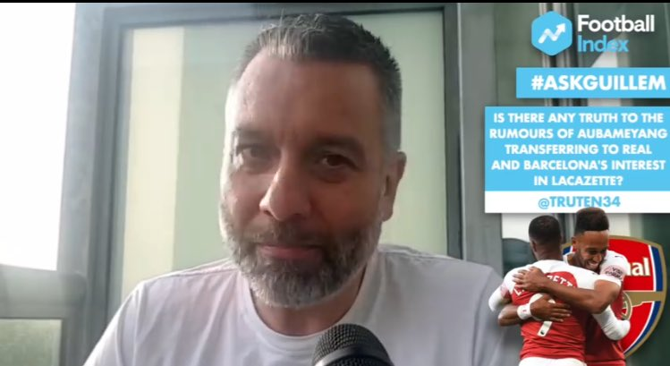 .@GuillemBalague: Aubameyang &amp; Alex Lacazette are staying at #AFC, at least for next season.  https:// youtu.be/busc866OiME  &nbsp;  <br>http://pic.twitter.com/j6mGCuZlAJ