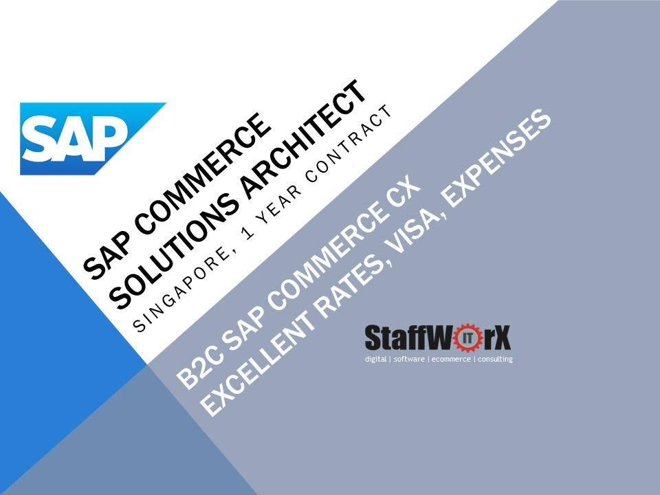 test Twitter Media - SAP CX (SAP Commerce, Hybris) Solution Architect - Singapore, 1 year contract, excellent rates + expenses - solution architect to lead our client's B2C Commerce solution architecture in the FMCG / Consumer products sector. #sapcx #SAP #contractors #Singapore #ecommerce https://t.co/4iMSl7SkzL