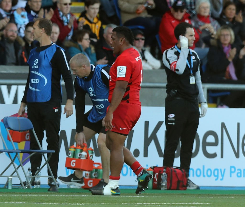 Saracens and England prop Mako Vunipola will miss the rest of the @premrugby season after suffering a hamstring injury.More here: https://bbc.in/30nmhMD #bbcrugby