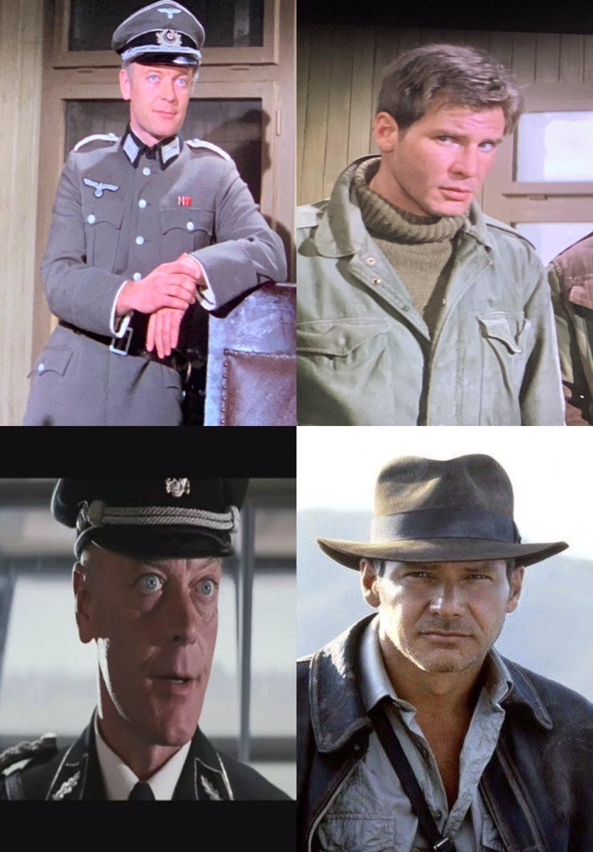 Harrison Ford faces off against Michael Byrne in Force 10 from Navarone (1978), then again a second time, in Indiana Jones and the Last Crusade (1989).