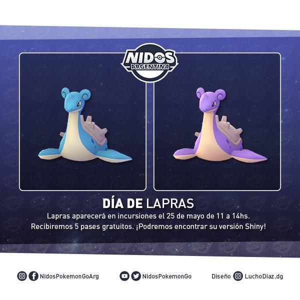 Imagen de Lapras shiny en Pokémon GO hecho por Nidos Pokémon GO Argentina