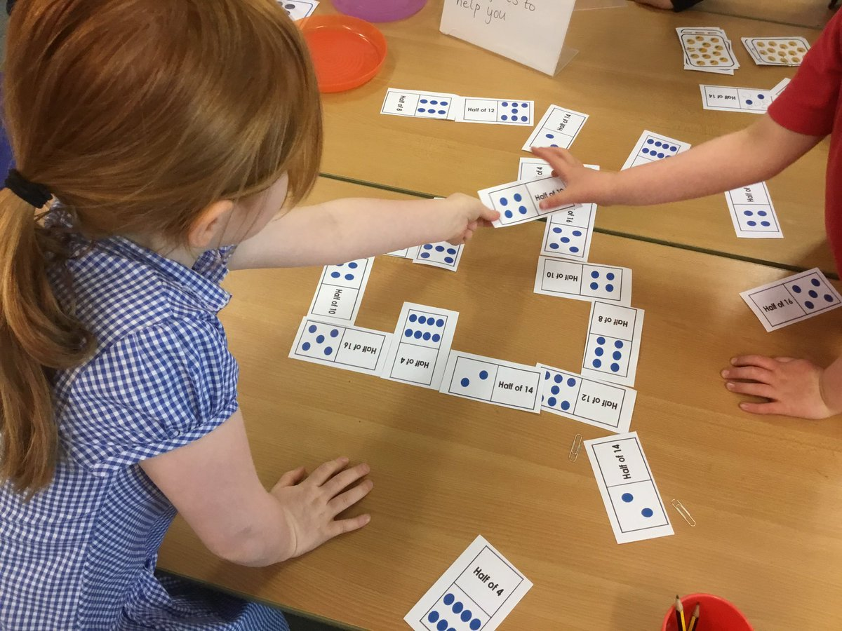 test Twitter Media - We used our knowledge of halves to try some problem solving games and activities, we had lots of fun 😊 #gorseymaths https://t.co/JEx2x9O5Xm