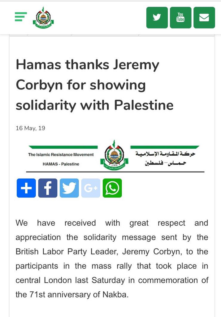 So that's the KKK BNP and Hamas, well done @jeremycorbyn