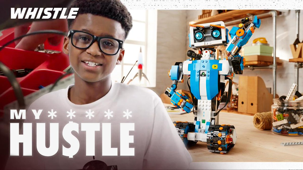 10-year-old robotics prodigy is his own CEO 👀  My Hustle w/ @icoderobots: https://whistle.video/RoboticsProdigy