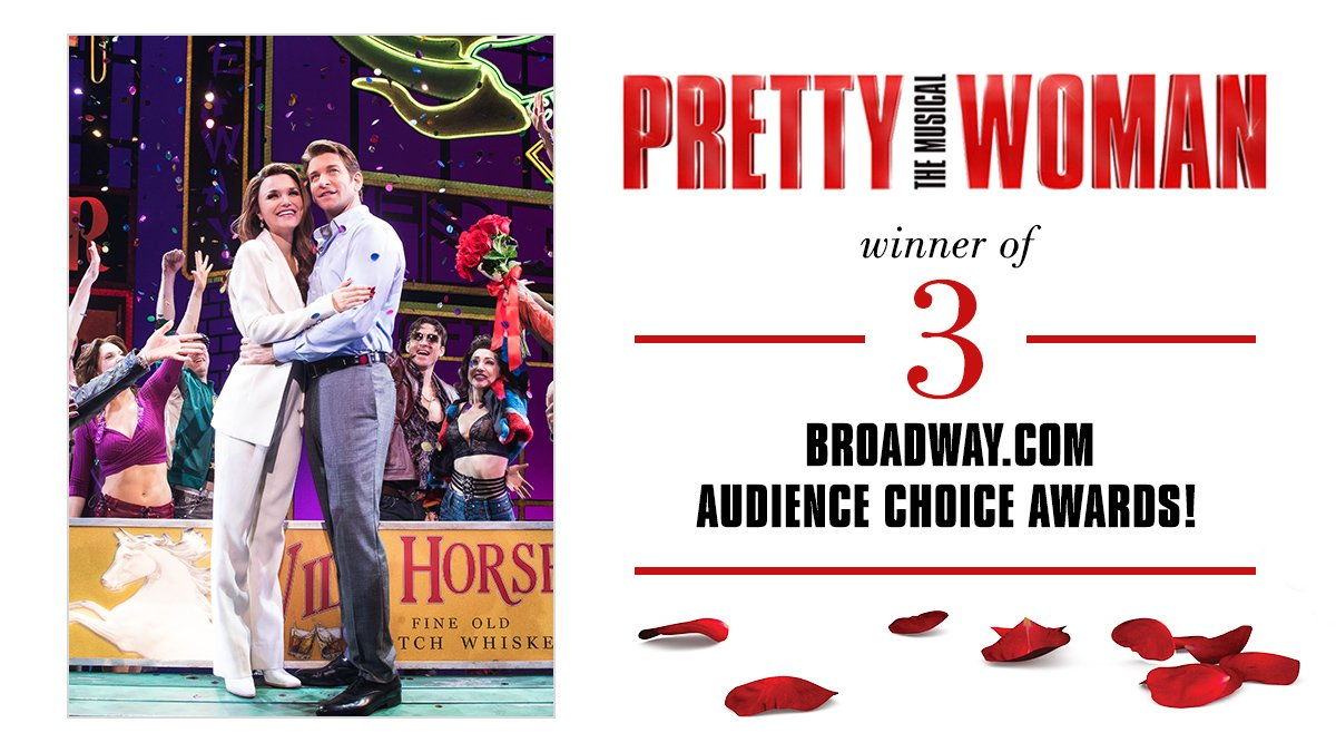 Raising a glass to our own @andy_karl and @official_orfeh who've won @broadwaycom's Audience Choice Awards for Favorite Leading Actor/Musical, Favorite Featured Actress/Musical, &amp; Favorite Diva Performance. Thanks to our rock star fans for all the love! #PrettyWomanTheMusical <br>http://pic.twitter.com/JT7bjMLM8i