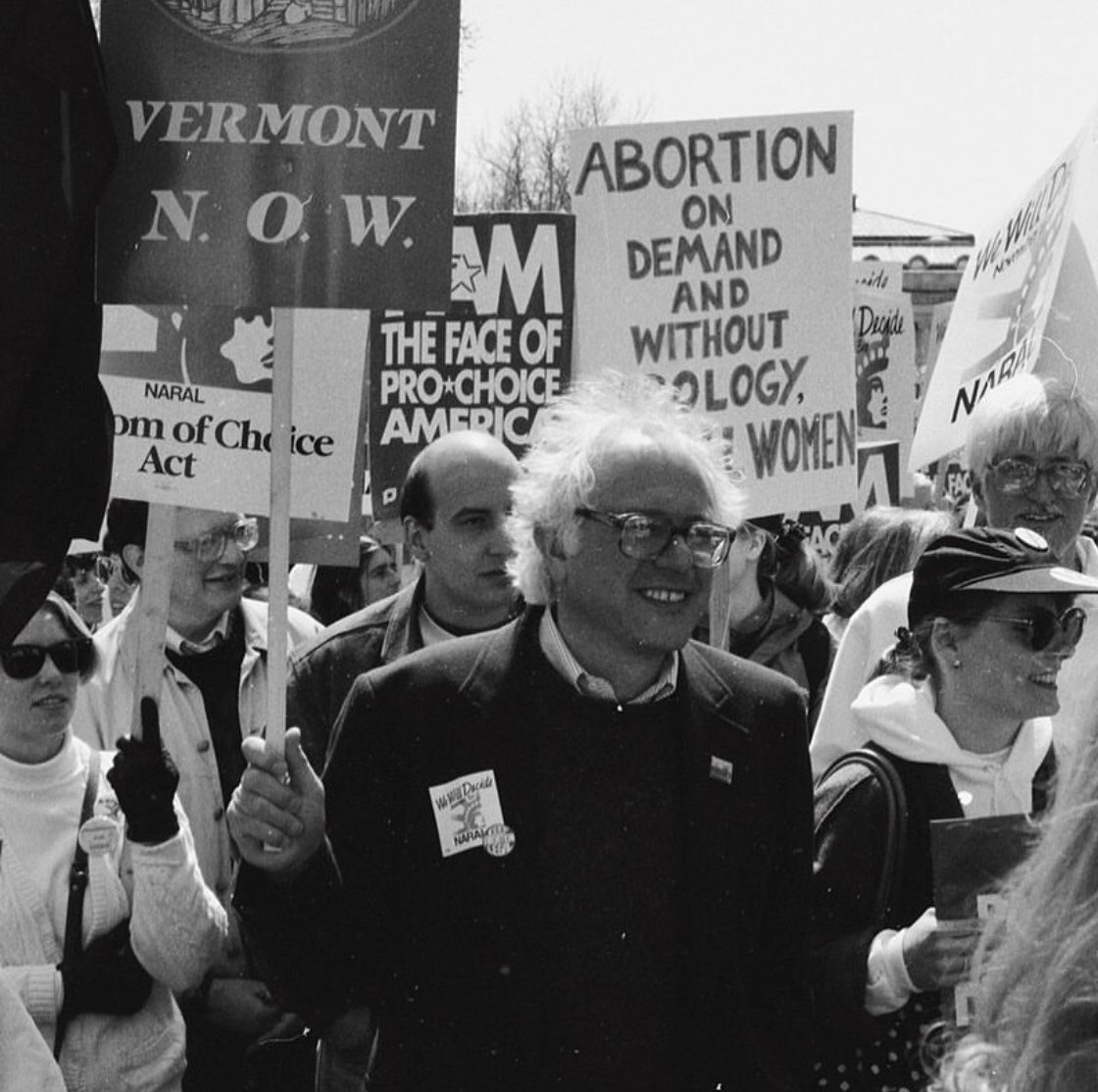 Bernie Sanders has always fought for women's rights. #AbortionIsAWomansRight #Bernie2020