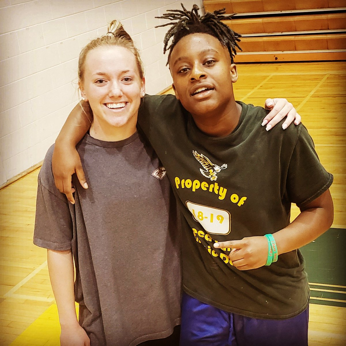 Rising seniors #1️⃣3️⃣ Hannah Himes and #1️⃣1️⃣ Jasia Oliver are 🔒'd in, focused, and ready to work this upcoming 🏀 season‼#svgbb #basketball #moco #support #positive #RT #svhs #family #team #work #gameday #seniorszn #share #mcps #grindseason