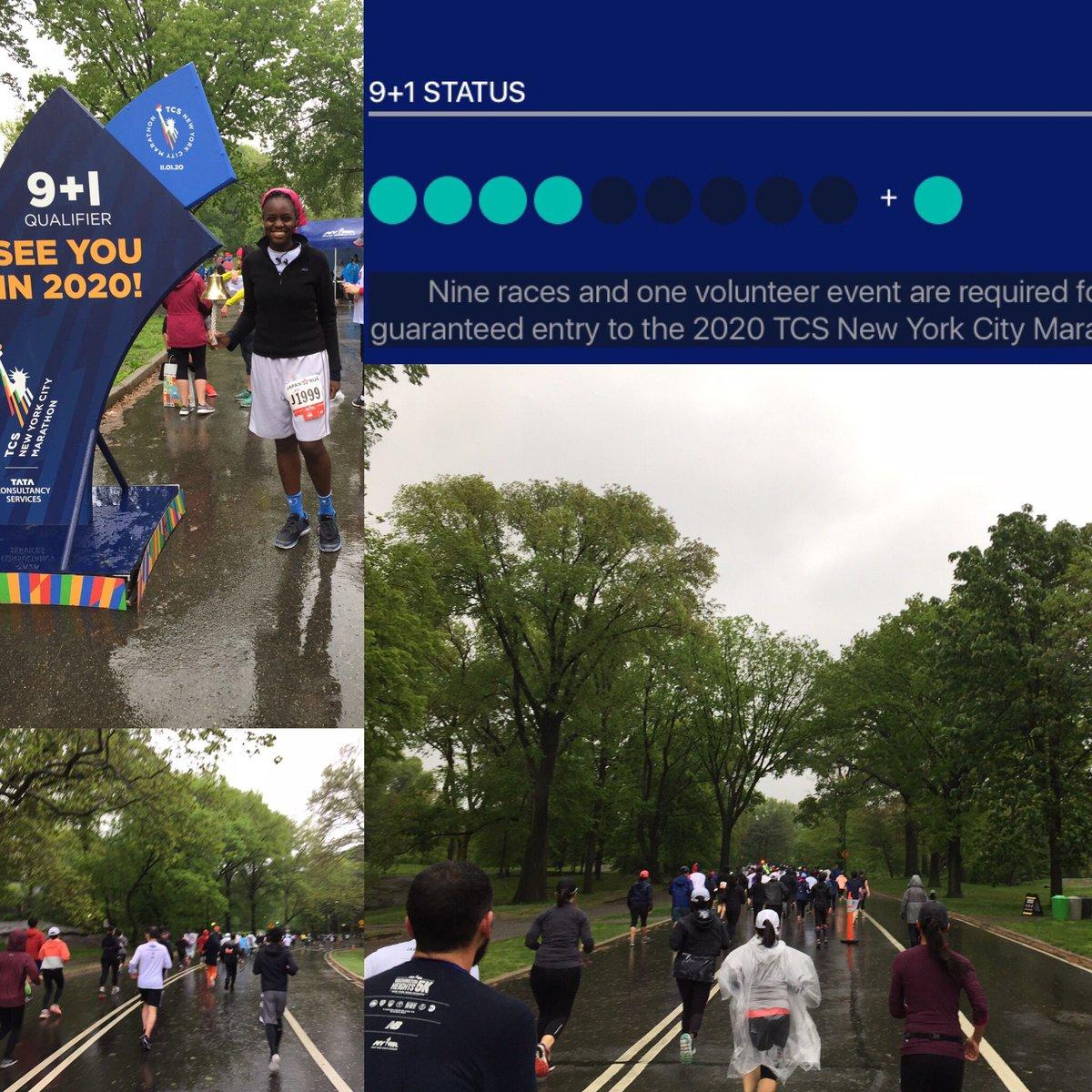 Halfway through… @NYCMarathon @NYRR #RunForLife 🏃🏾♀️