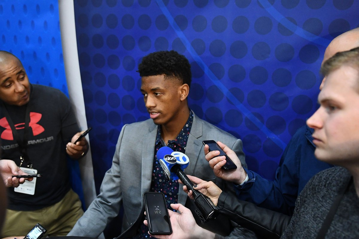 Top-10 prospects such as Jarrett Culver (Texas Tech) and Jaxson Hayes (Texas) told media at #NBA draft combine that they met with #Pelicans for interviews. As Culver put it, alluding to the possibility of draft-night trades, Anything can happen. More: on.nba.com/2EfLYW9