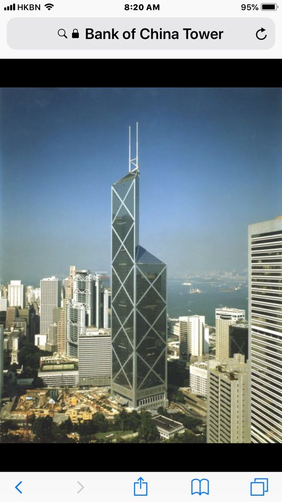 I.E.Pei's most controversial and recognizable building in HK.  RIP