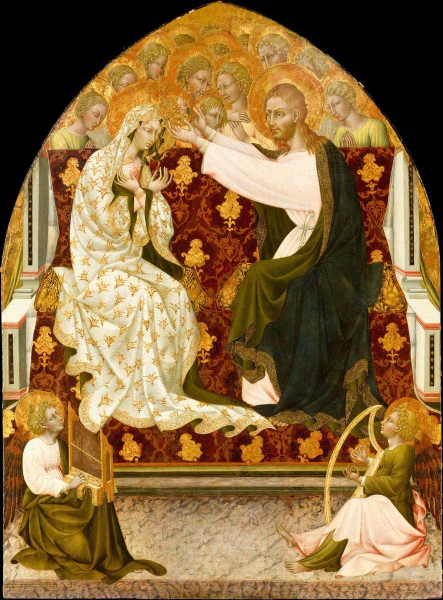 Coronation of the Virgin - Giovanni di Paolo, c. 1455. (Metropolitan Museum of Art)