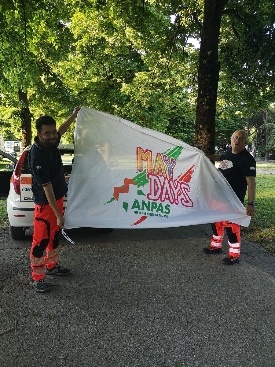 🎉Iniziano oggi a Prato i #maydays2019 con l'inaugurazione del modulo giocheria #Anpas, Tornei di calcetto, un'esercitazione di protezione civile, le soccorsiadi  Il programma completo https://t.co/17iTIWeWor  @AnpasToscana https://t.co/L5BMUV7hcu