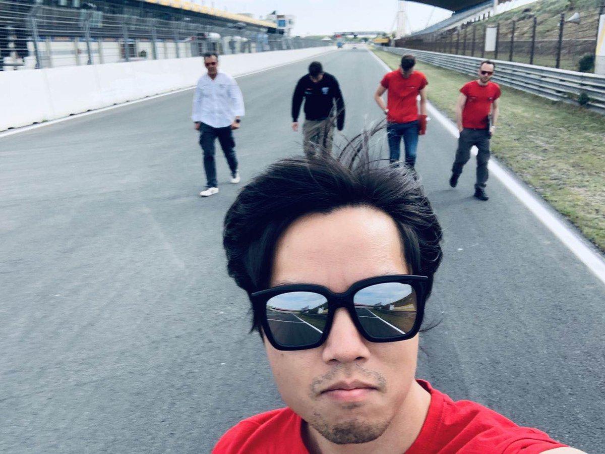 Track walk with my boys...