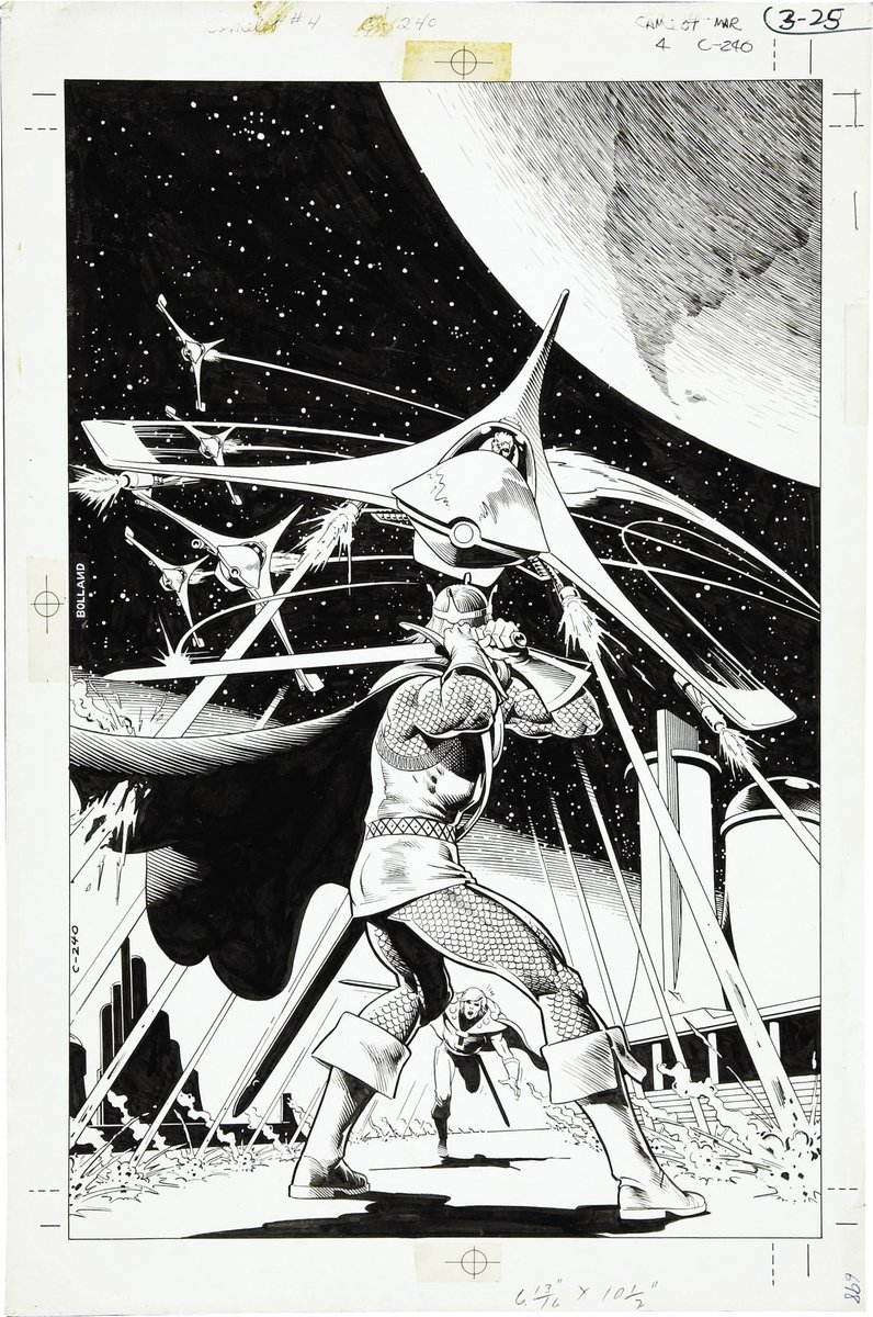 the cover to Camelot 3000 #4 by Brian Bolland