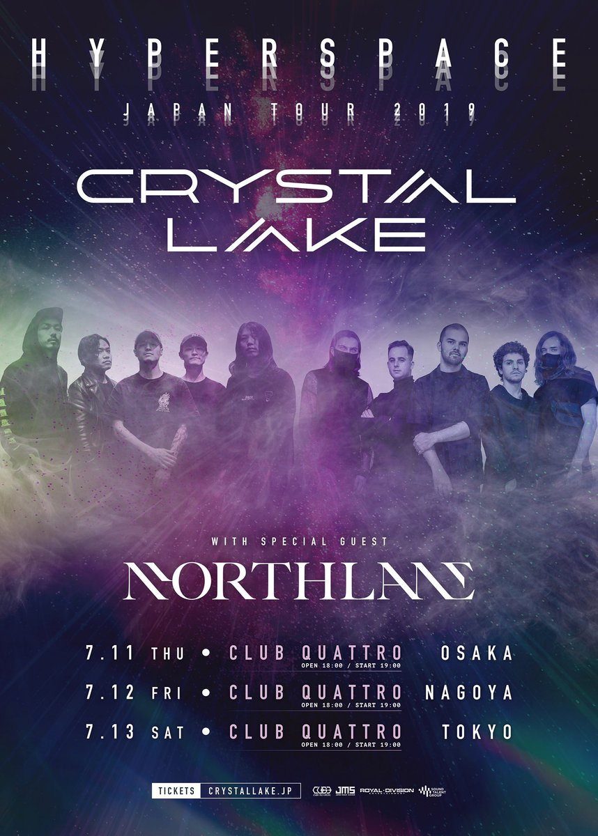 Japan, we are pleased to announce we are returning for @crystallake777's HYPERSPACE tour!!  July 11 - Umeda Club Quattro, Osaka July 12 - Nagoya Club Quattro, Nagoya July 13 - Shibuya Club Quattro, Tokyo<br>http://pic.twitter.com/7MbDaCMQAL