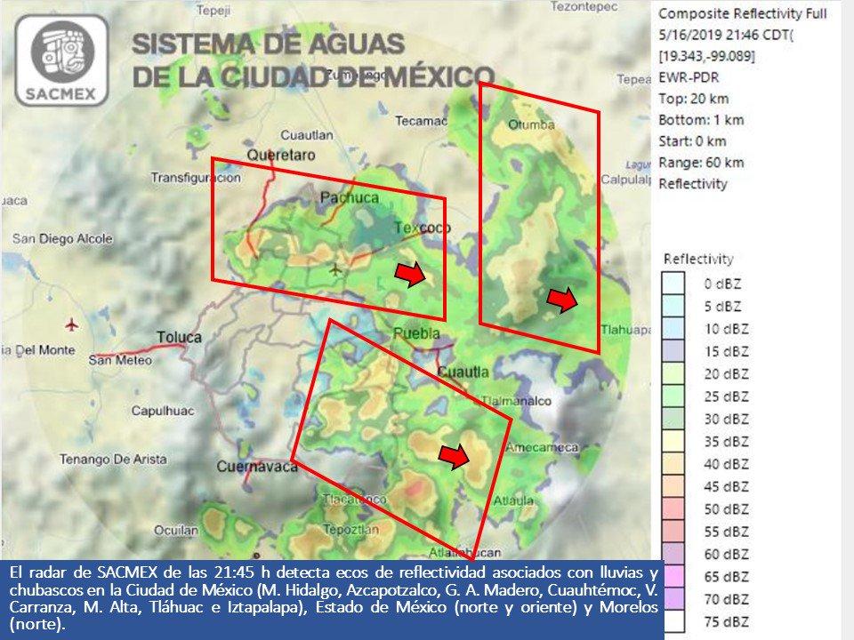 #Lluvias y #Chubascos en el #EdoMéx, #Morelos #CDMX