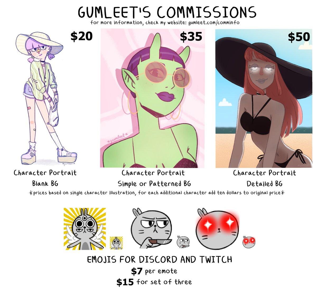 gumleet | comms open (@gumleet) | Twitter