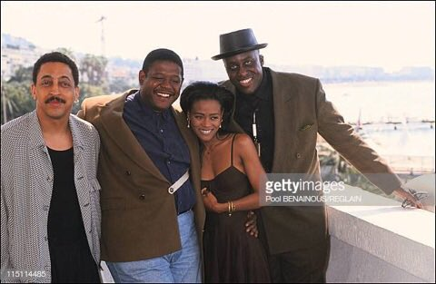 #TBT - in 1991 I directed a film called #ARageInHarlem that went to the @FestivaldeCannes. Here I am with part of my fantastic cast - #GregoryHines (R.I.P.) @ForestWhitaker and @RobinGivens. #ThoseWereTheDays #ThrowbackThursday Thanks @GettyImages for the great photo!
