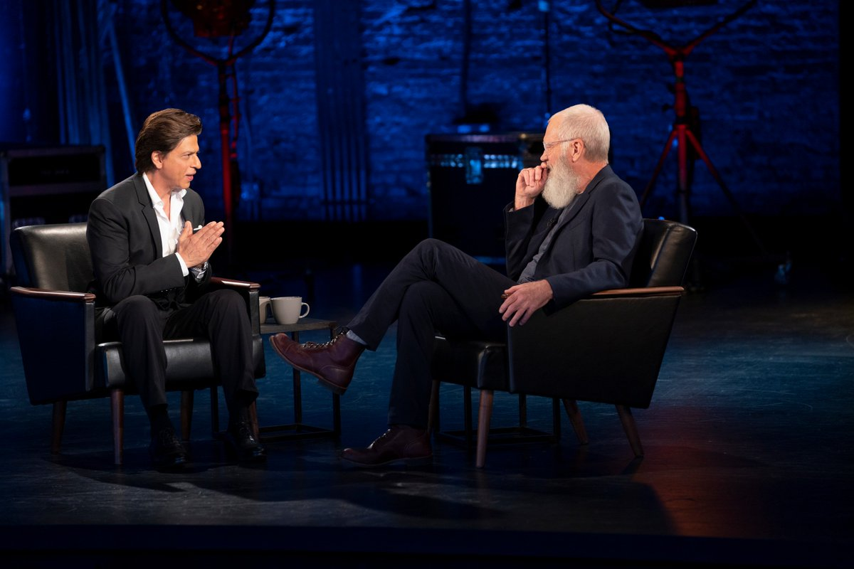 .@iamsrk & @Letterman together...  @NetflixIndia: Something epic, coming soon.  #SRK #KingKhan #ShahRukhKhan